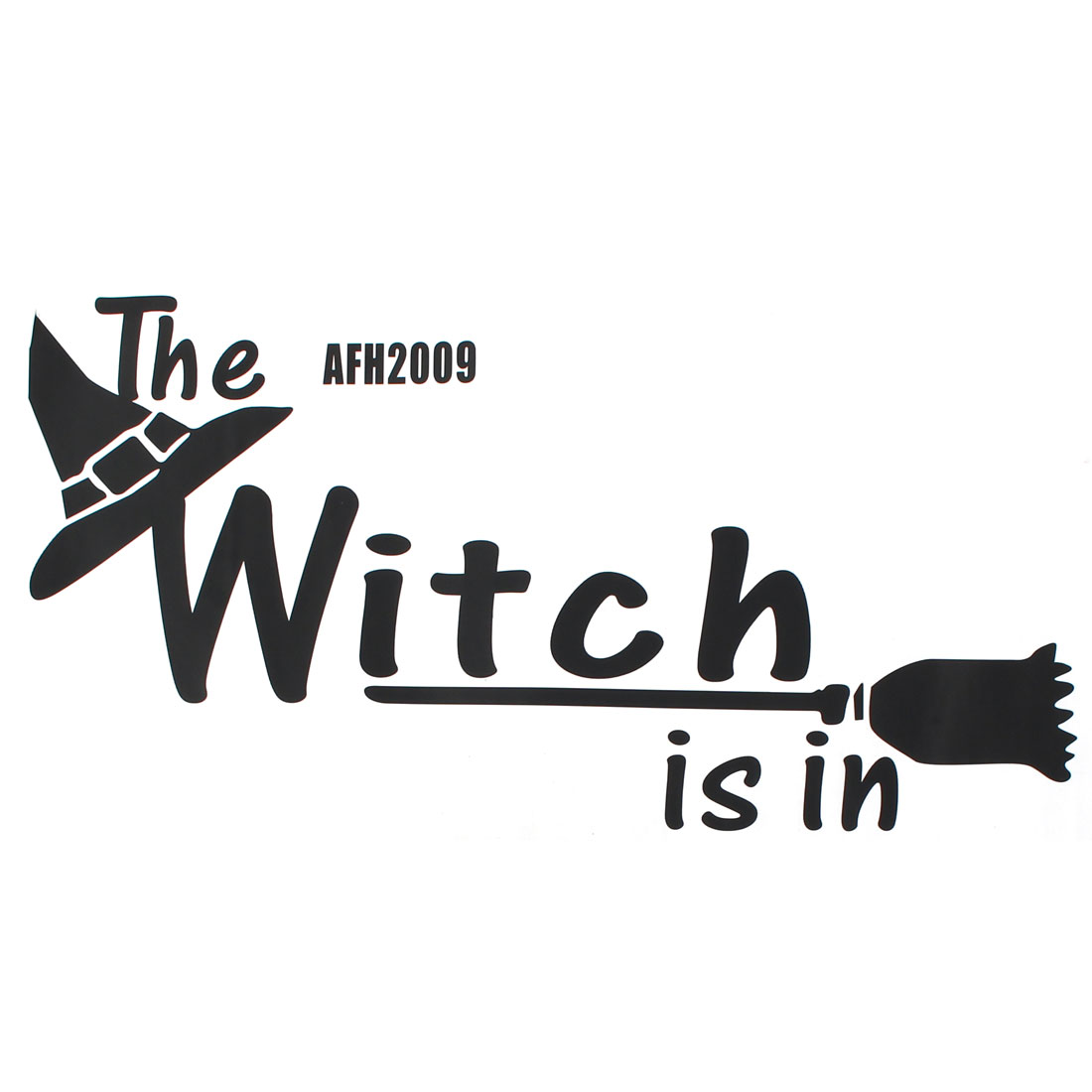 PVC Halloween Witch Hat Pattern Living Room Bedroom Decor Wall Stickers Decal