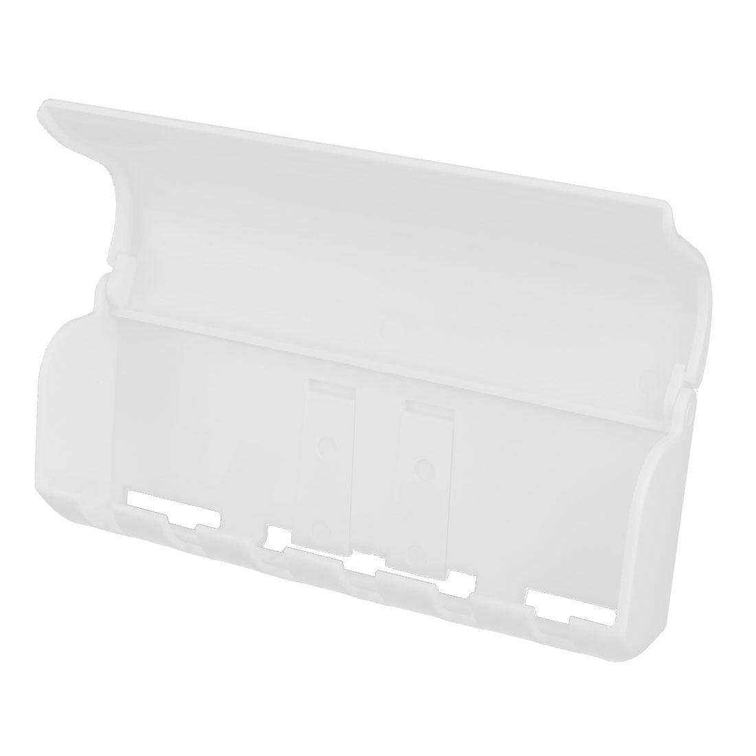 Household Plastic Wall Mount Self Adhesive 6 Racks Toothbrush Holder Storage White