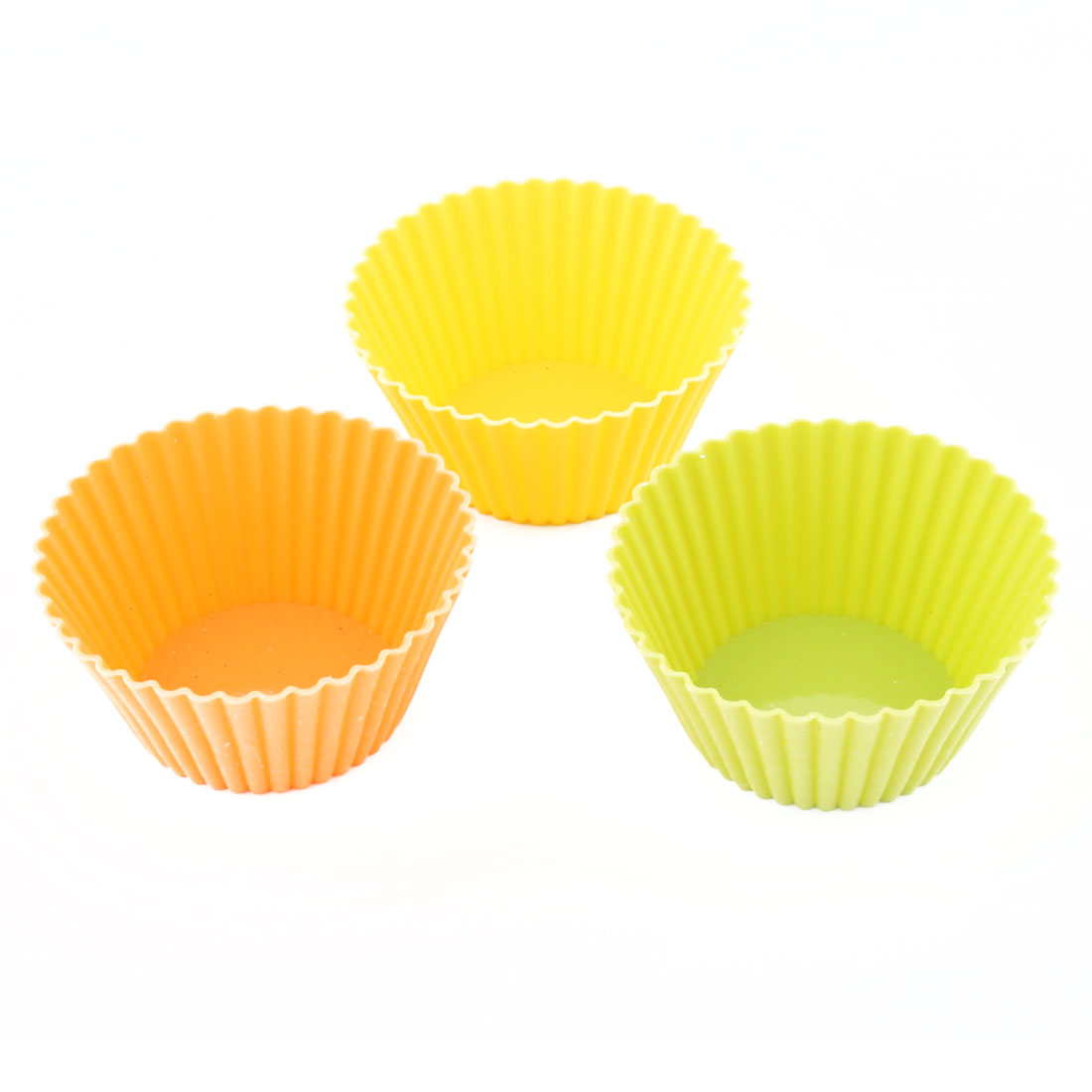 Household Silicone Cupcake Liners Molds Baking Muffin Cup 7CM Upper Diameter 3 PCS