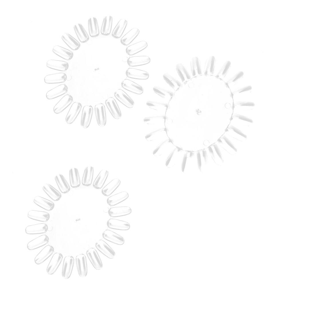 Acrylic Wheel False Nail Display Nail 20-nail Template Nail Clear 3 PCS