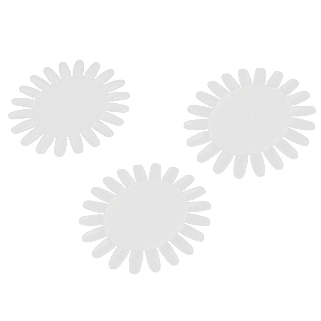 Plastic Wheel False Nail Display Nail Art Tips 20-nail Nail Swatches White 3 PCS