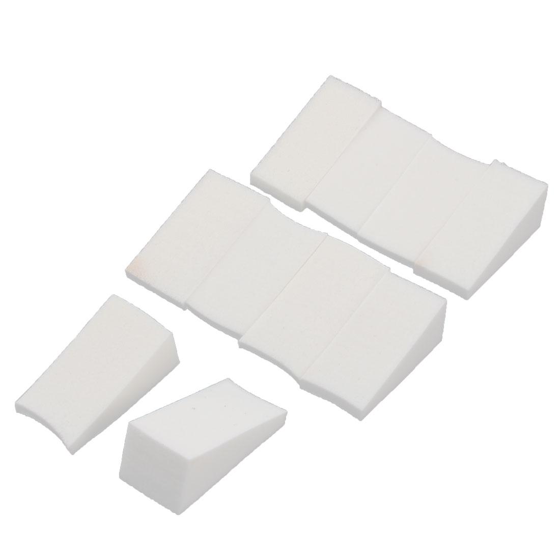 Gradient Wedge Shaped Soft Creative Nail Art Manicure Nail Sponge White 10 PCS