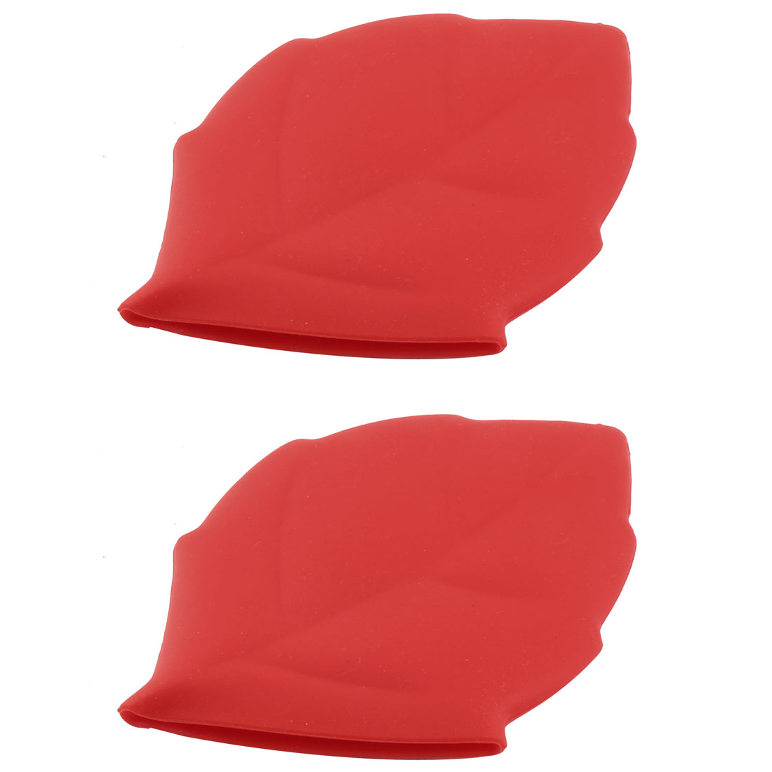 Travel Maple Leaf Shape Portable Folding Water Cup Silicone Cup Red 2 PCS