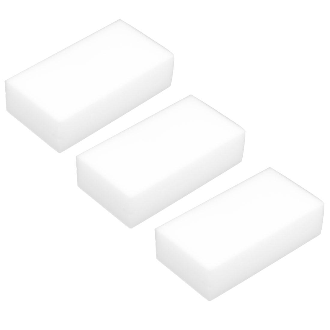 Household Kitchen Pot Pan Dish Table Magic Eraser Cleaning Pad White 3 Pcs