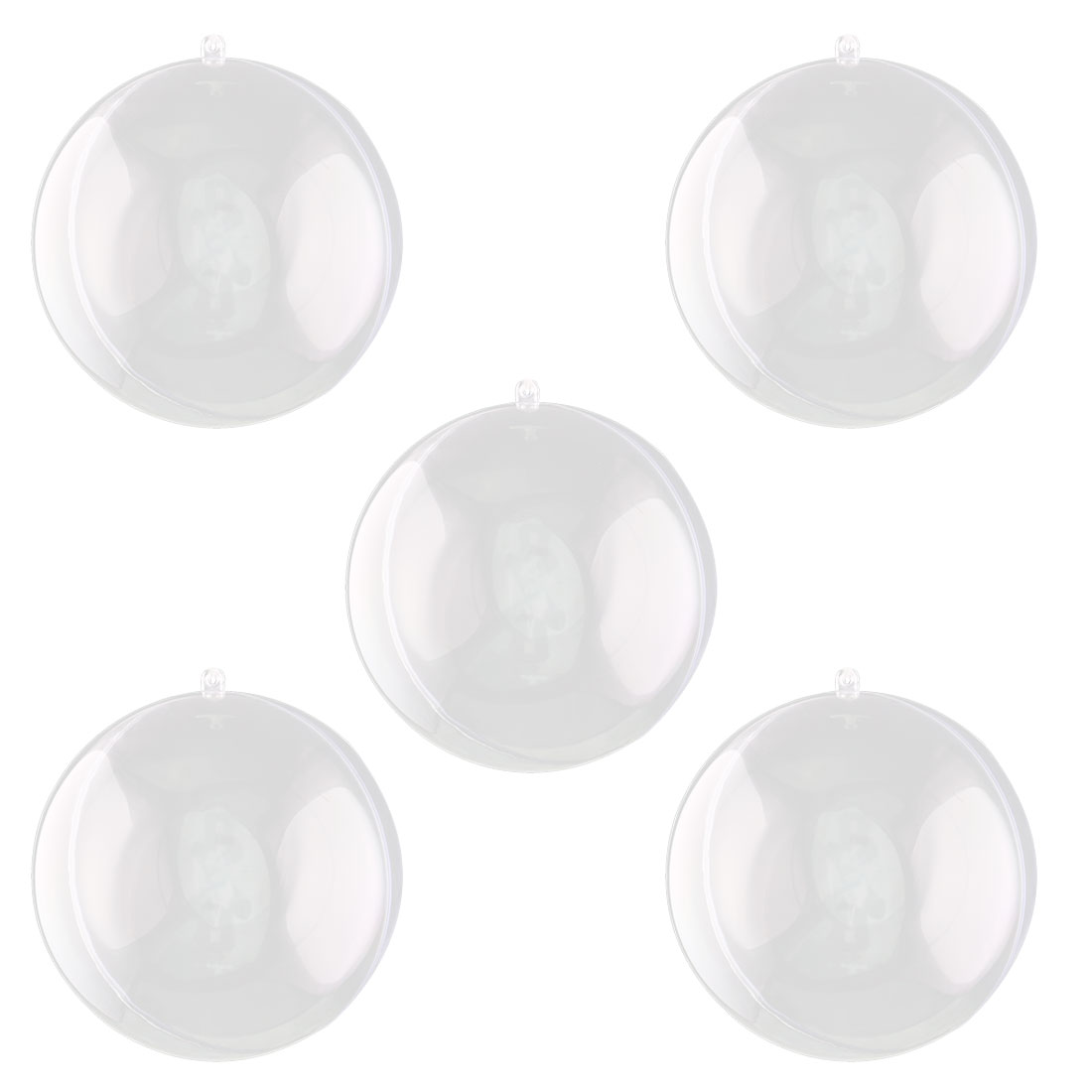 Home Garden Plastic Round Shaped Dangle Christmas Easter Ornament Bauble Ball Clear 5pcs