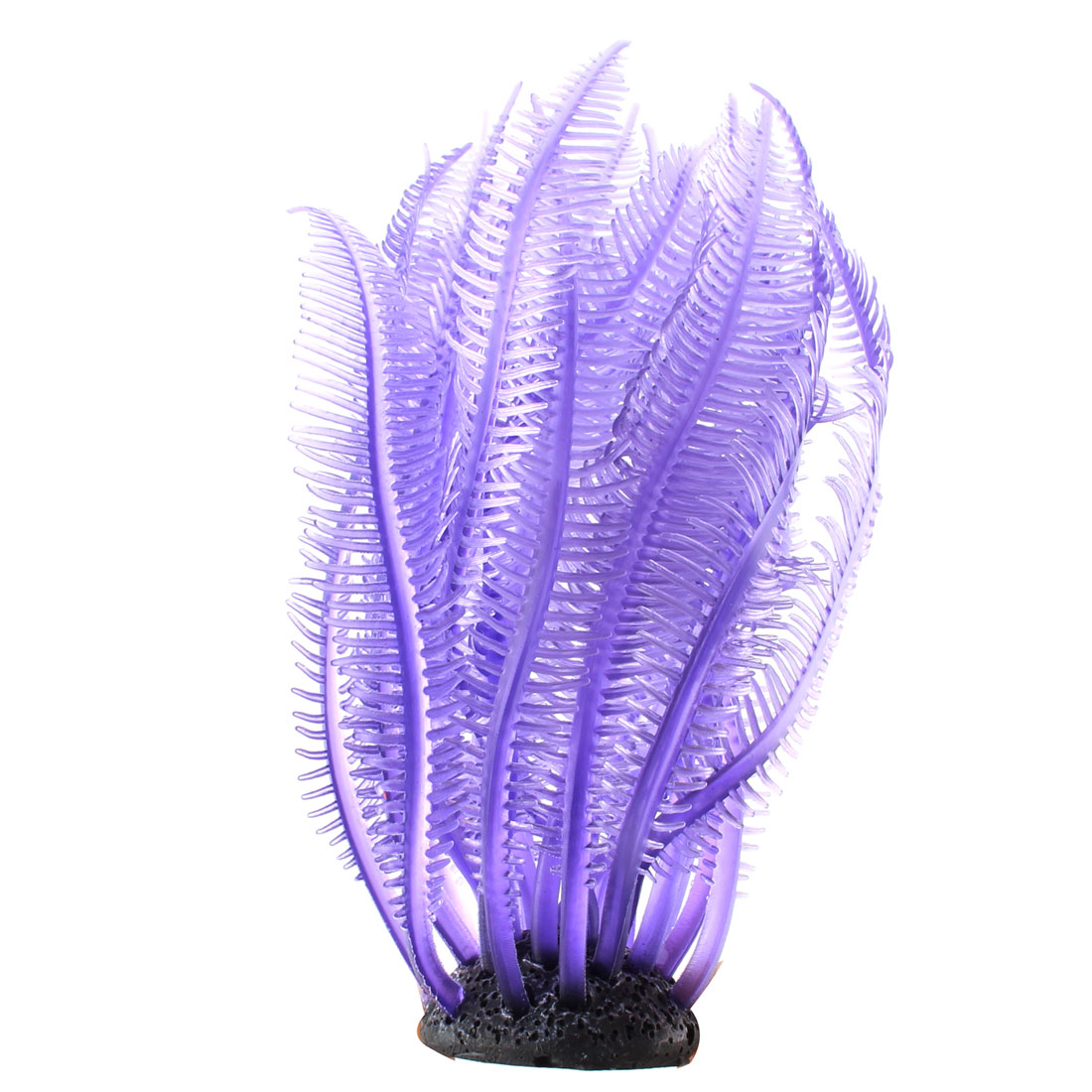 Fish Tank Aquarium Decor Silicone Simulation Sea Anemone Plant Light Purple