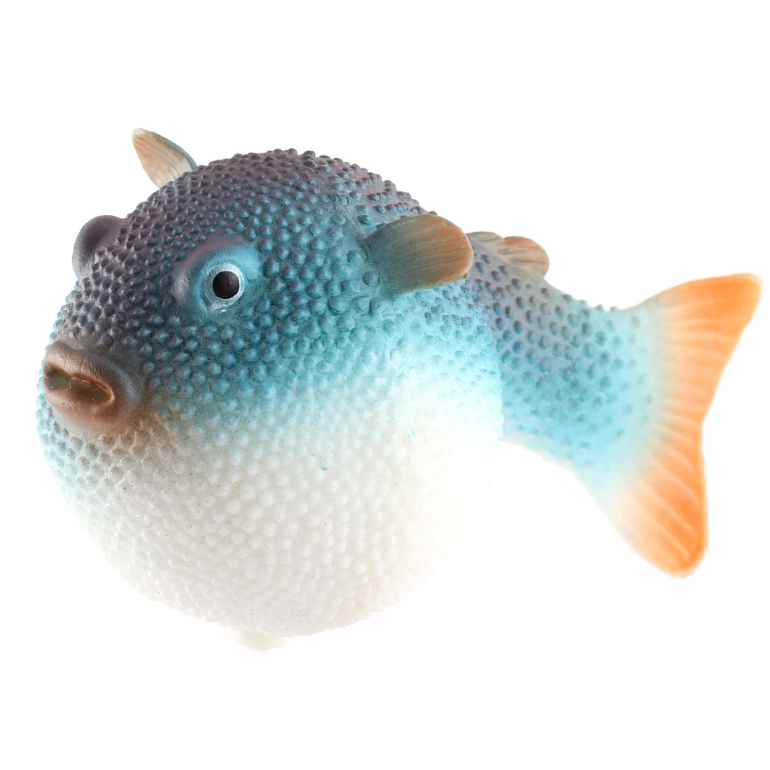 Aquarium Fish Tank Decoration Plastic Water Floating Emulational Blowfish Blue