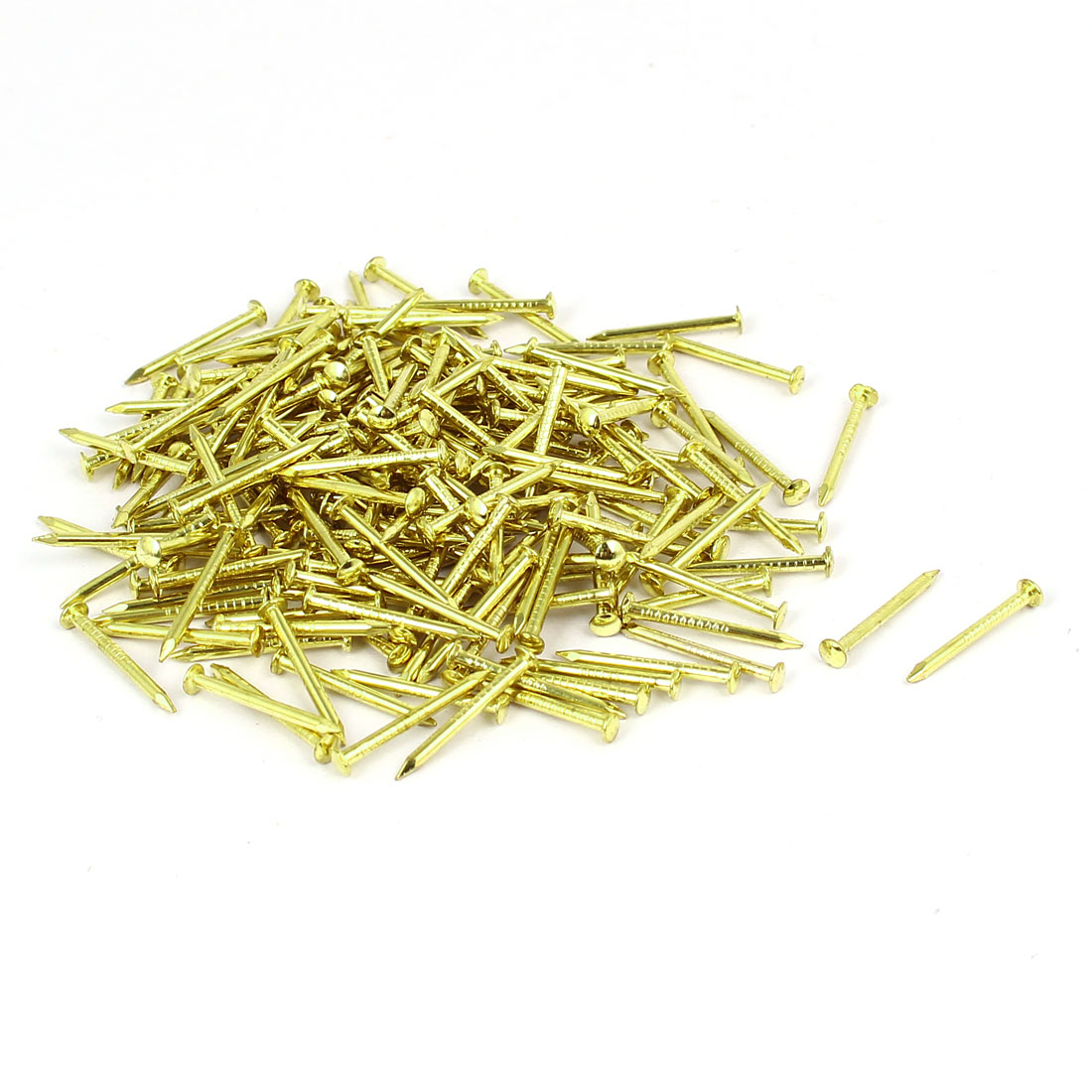 Home Furniture Upholstery Thumb Tack Nail Push Pin Gold Tone 3mm x 17mm 200pcs
