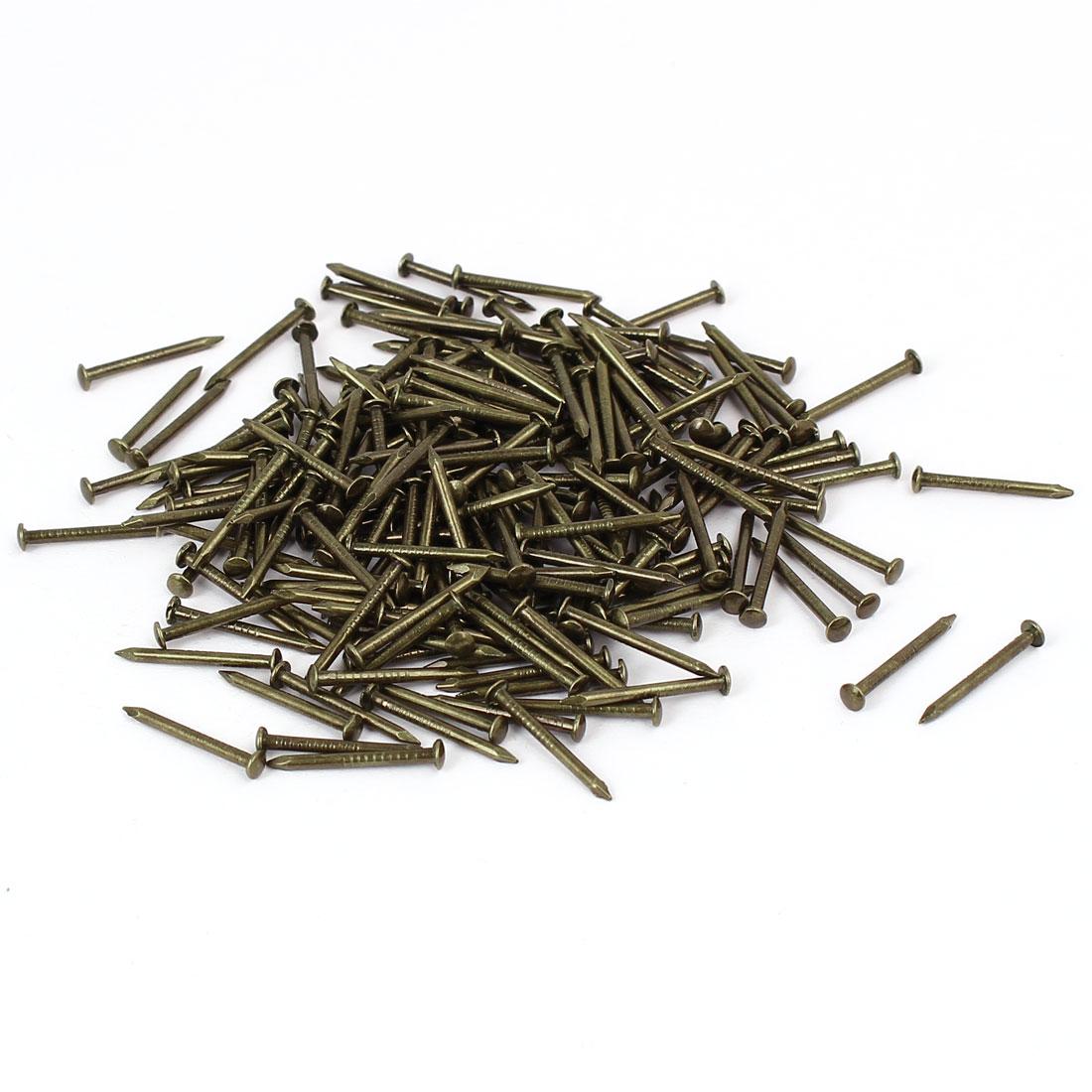 Home Furniture Upholstery Thumb Tack Nail Push Pin Bronze Tone 3mm x 17mm 200pcs