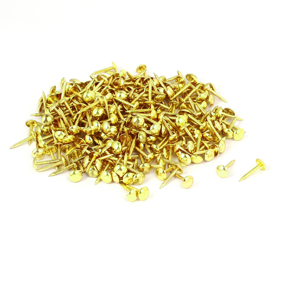 Home Furniture Upholstery Thumb Tack Nail Push Pin Gold Tone 6mm x 14mm 300pcs