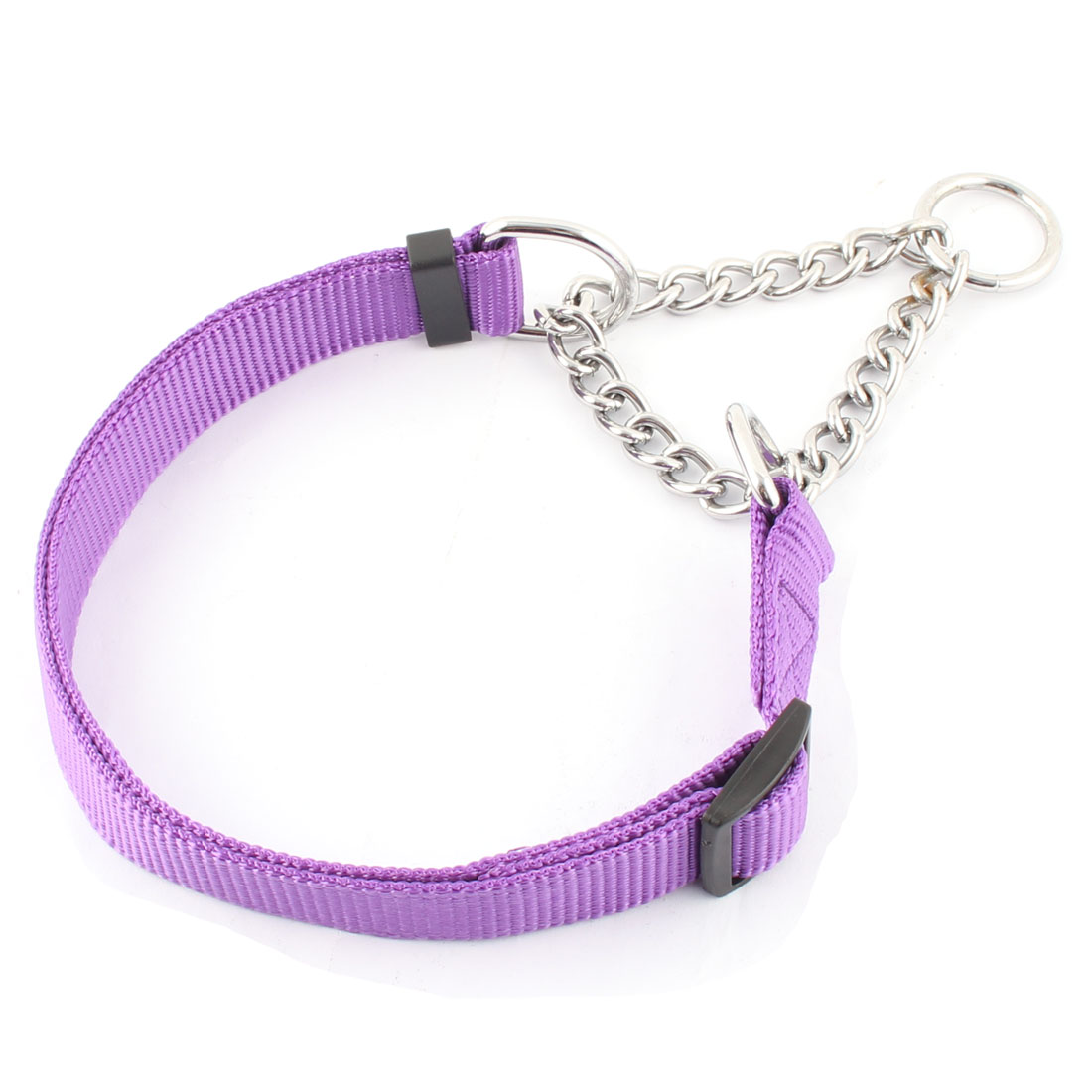 Dog Outdoor Nylon Rope Adjustable Traction Rope Neck Chain Leash Purple
