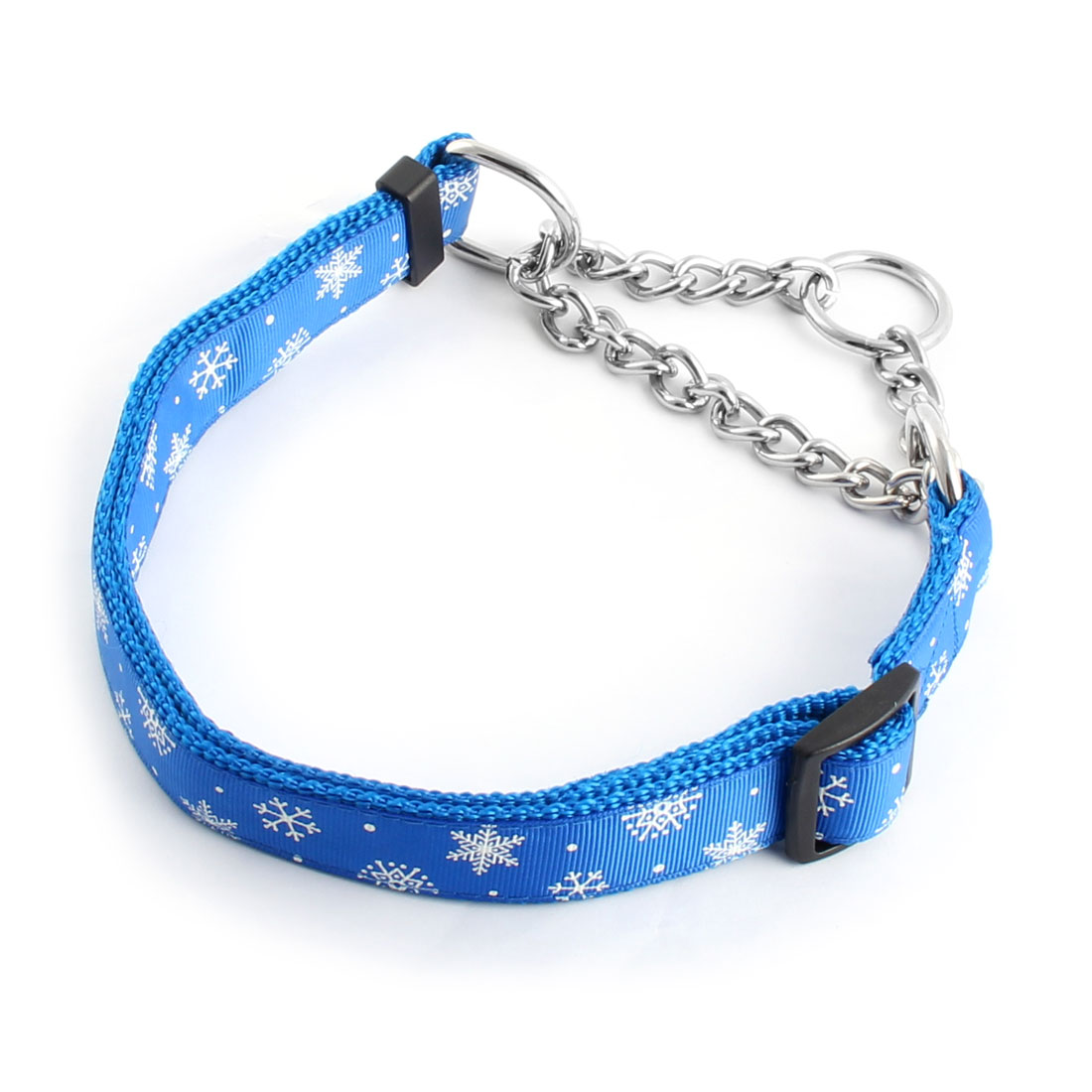 Pet Dog Outdoor Nylon Rope Snowflake Pattern Adjustable Neck Chain Leash Blue