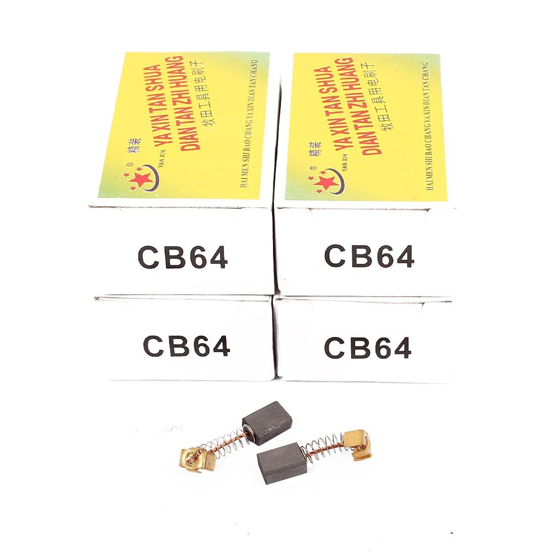 5 Pairs 30x11x7x4mm Carbon Brushes Power Tool CB64 Drill Motor
