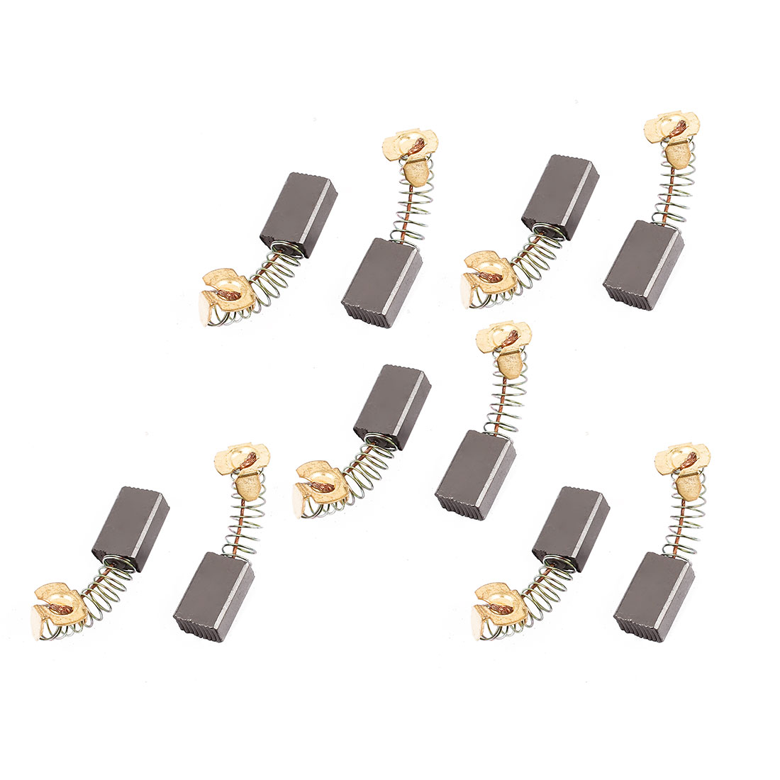 5 Pairs 16x10x6mm Carbon Brushes Power Tool for Electric Hammer Drill Motor