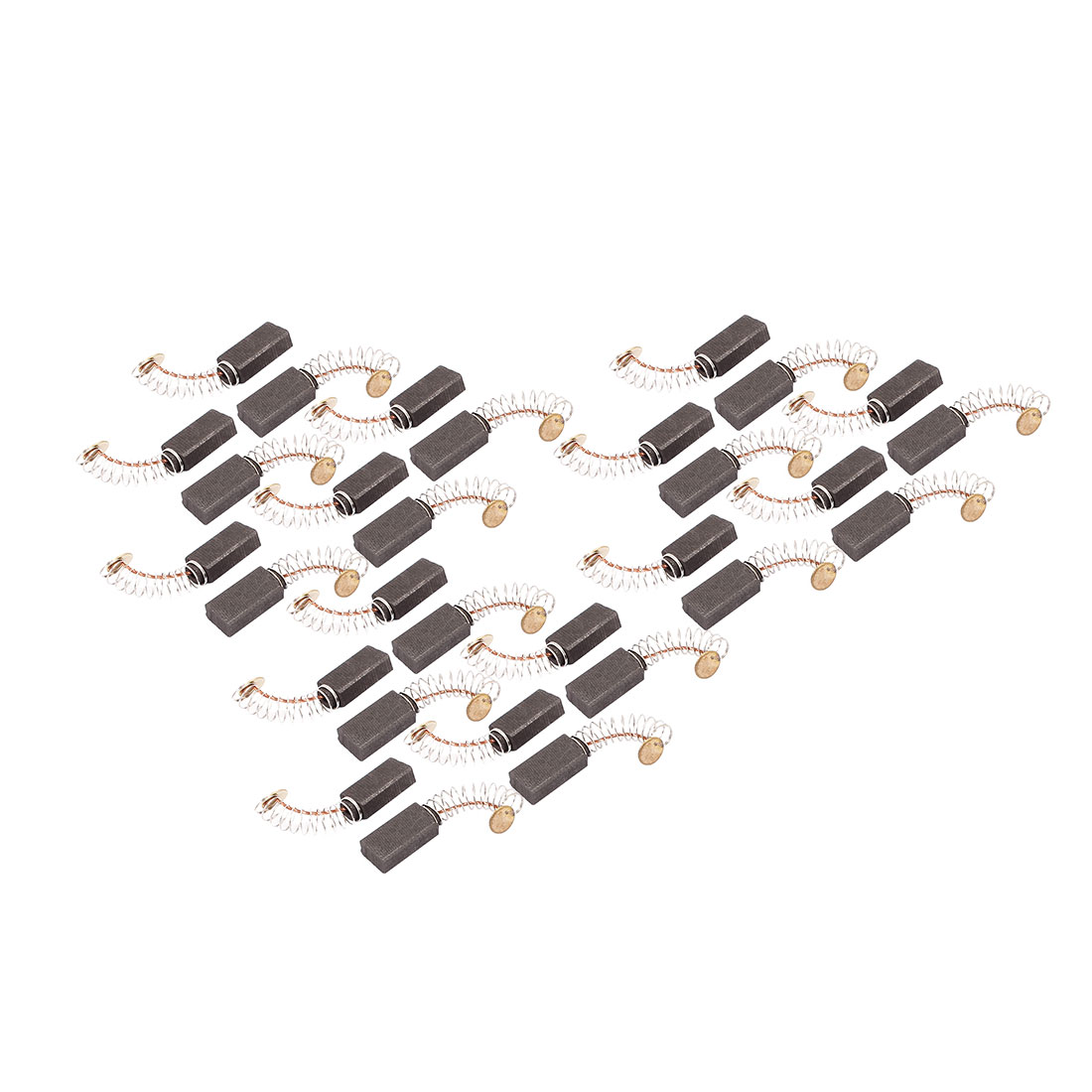 15 Pairs Electric Drill Motor Rotary Power Tool Carbon Brush 5 x 8 x 15mm Black