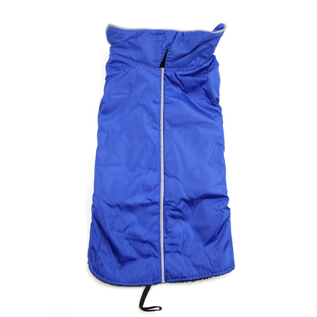 Reflective Vest Jacket Clothes Soft Warm Fleece Lining Dog Coat Clothing Blue L