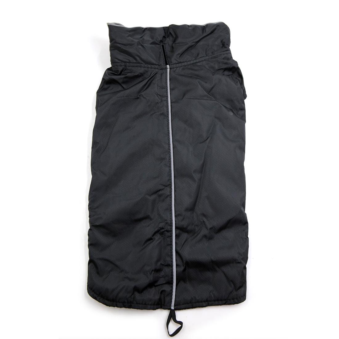 Reflective Vest Jacket Clothes Soft Warm Fleece Lining Dog Coat Clothing Black XS