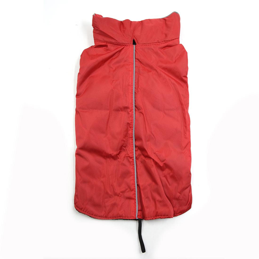 Reflective Vest Jacket Clothes Soft Warm Fleece Lining Dog Coat Clothing Red M