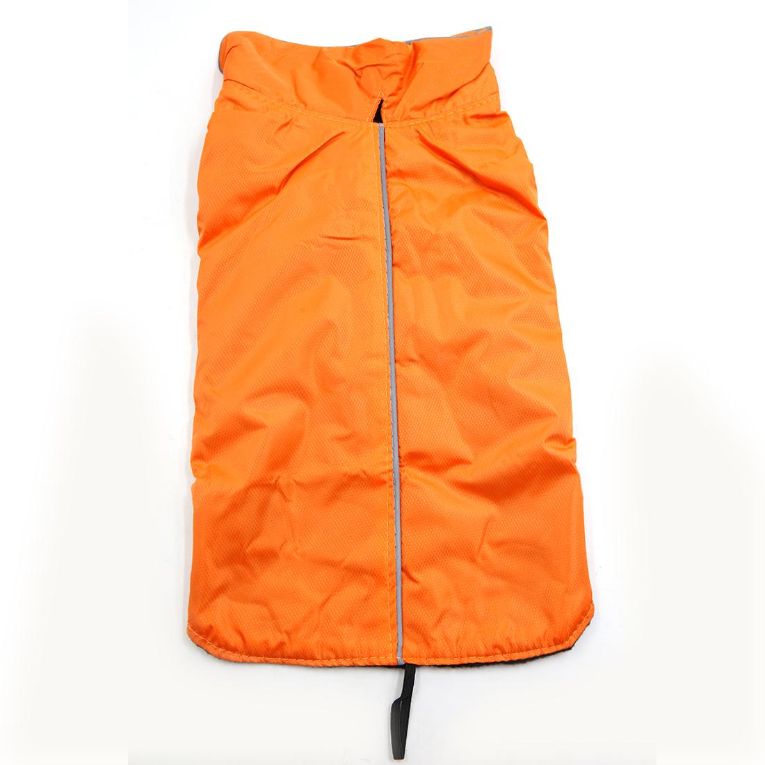 Reflective Vest Jacket Clothes Soft Warm Fleece Lining Dog Coat Clothing Orange M