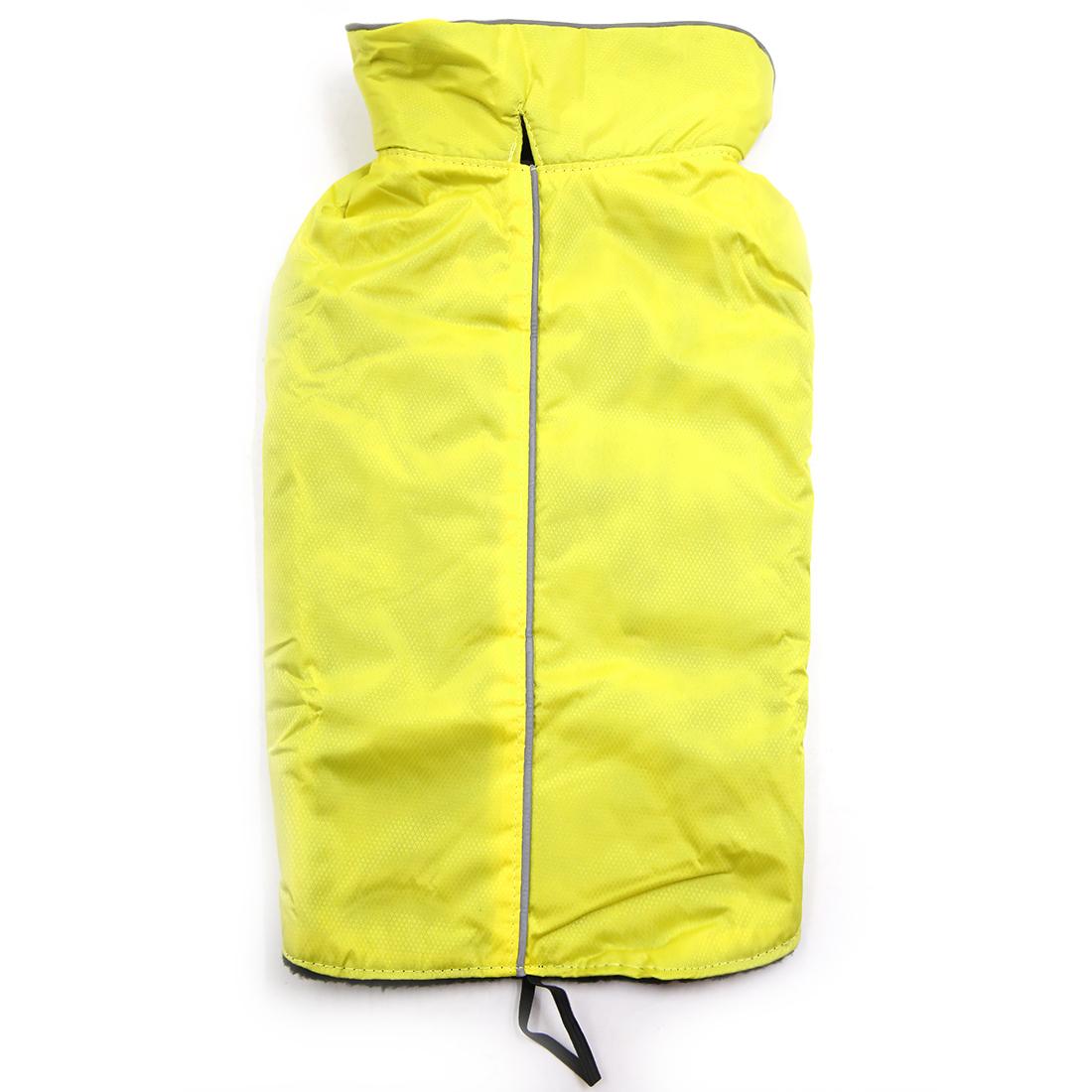 Reflective Waterproof Dog Vest Jacket Clothes Soft Warm Fleece Lining Dog Coat Clothing Yellow XS