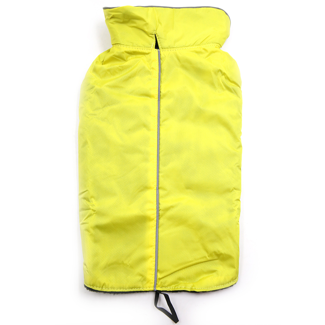 Reflective Waterproof Dog Vest Jacket Clothes Soft Warm Fleece Lining Dog Coat Clothing Yellow L