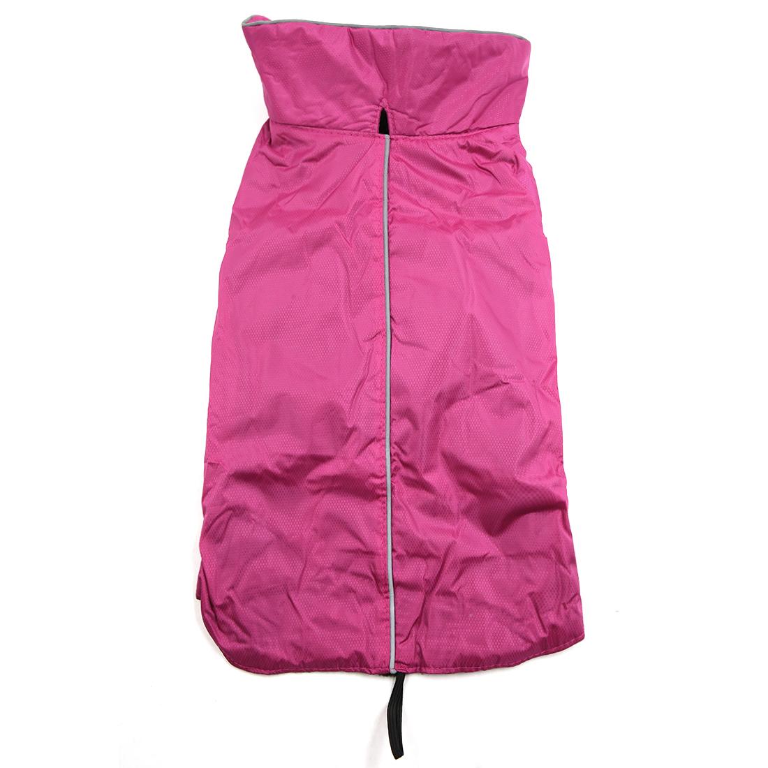 Reflective Waterproof Dog Vest Jacket Clothes Soft Warm Fleece Lining Dog Coat Clothing Rose XXL