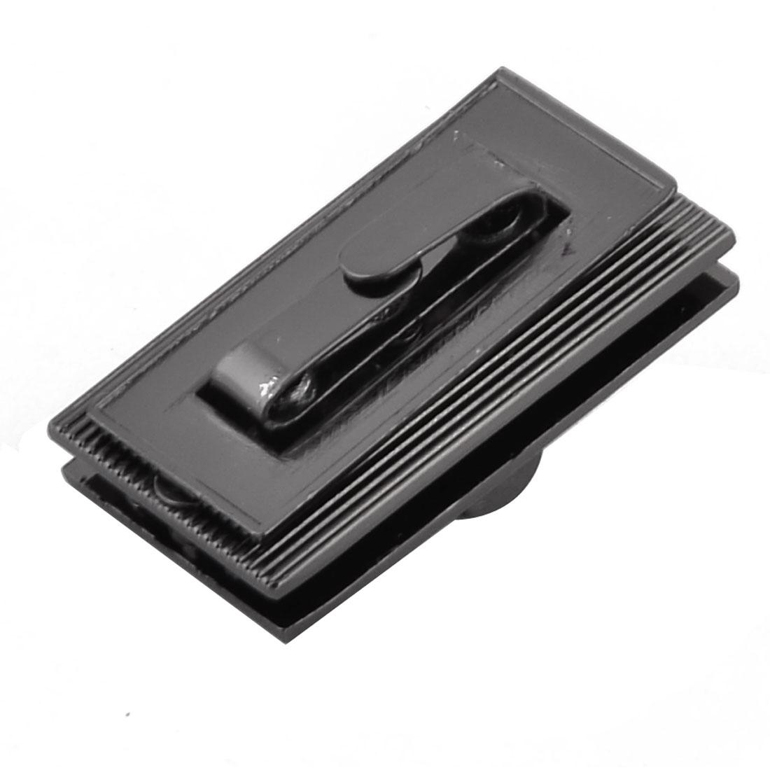 "Luggage Clothing Metal Rectangle Shaped Lock 1.1"" x 0.43"" Inside Size Black"