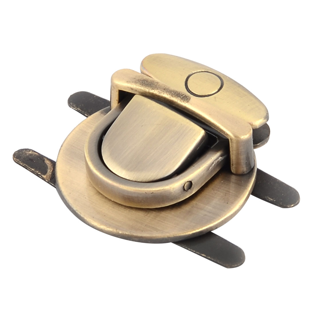 Handbag Clothing Accessory Metal Round Shaped Removable Lock Bronze Tone