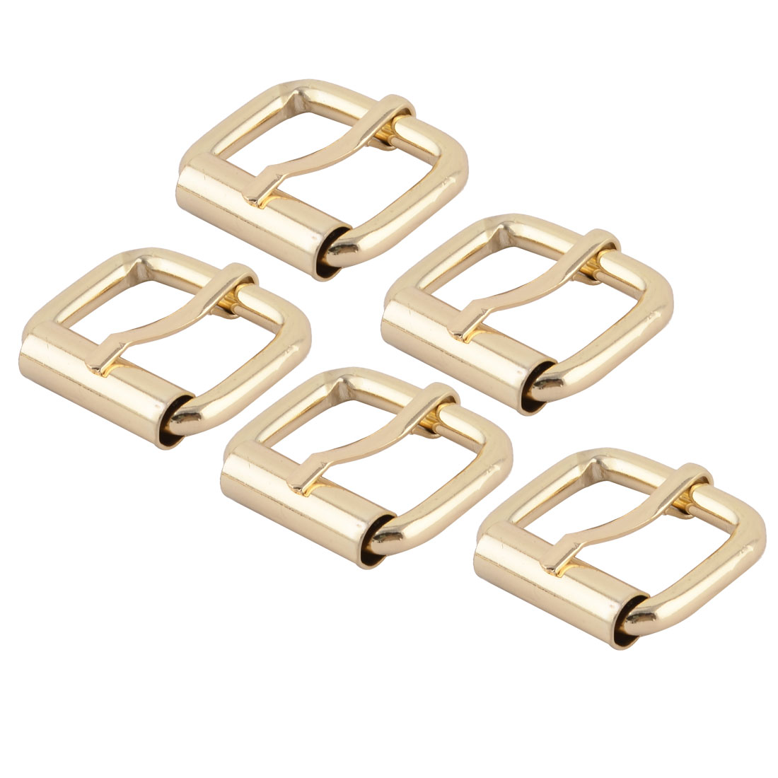 "Handbag Accessory Metal Rectangle Buckle 1"" x 0.7"" Inside Size Gold Tone 5 Pcs"