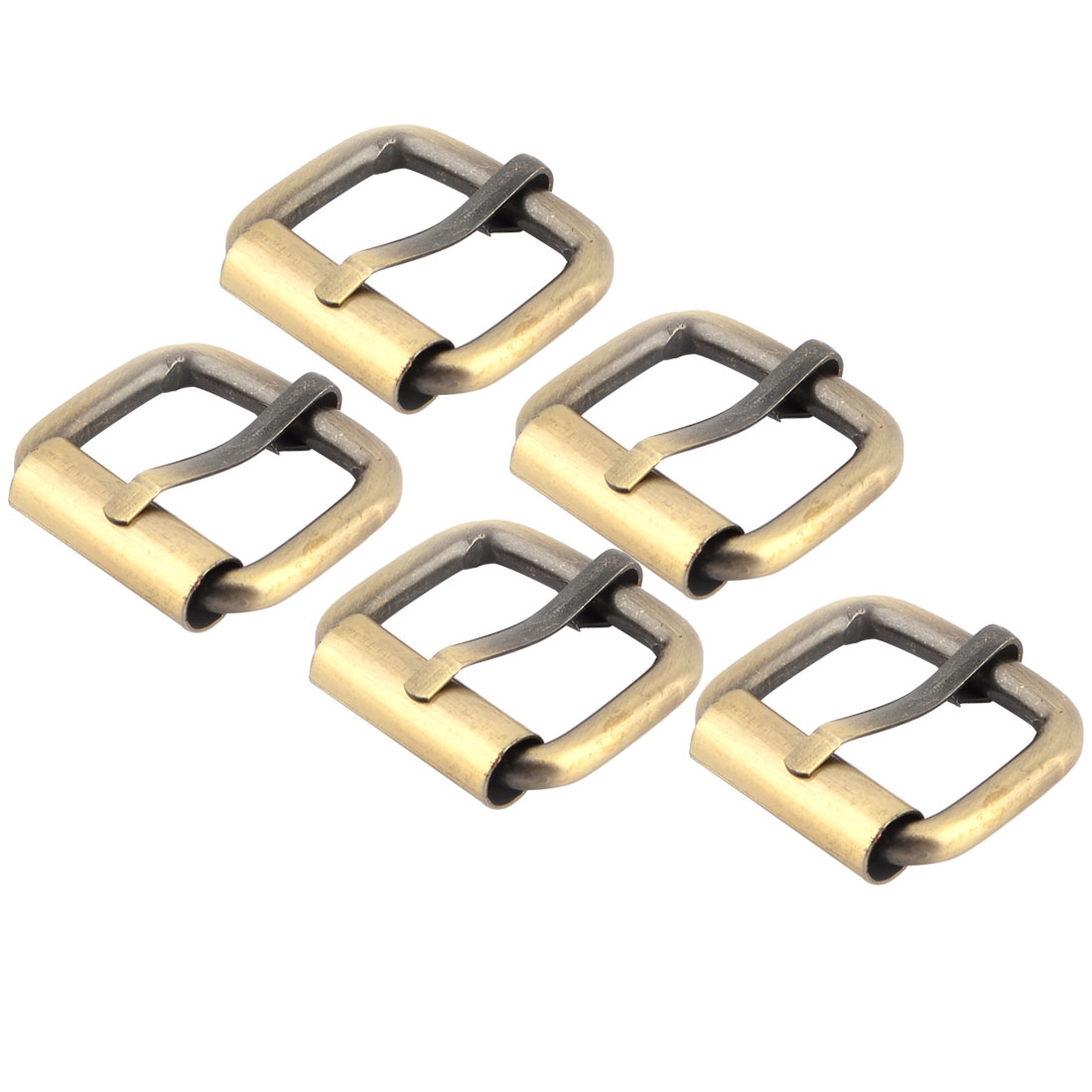 "Handbag Accessory Metal Rectangle Buckle 1"" x 0.7"" Inside Size Bronze Tone 5 Pcs"