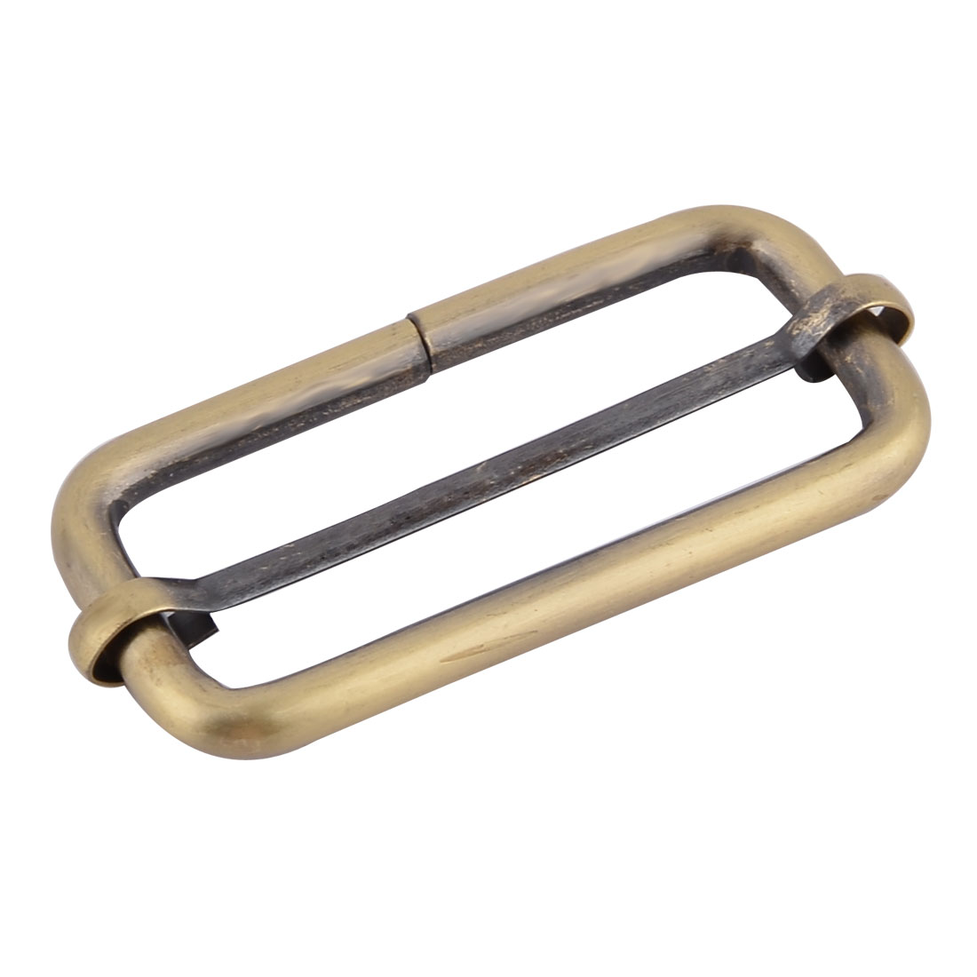 "Bag Metal Rectangle Buckle Strap Keeper 2"" x 0.8"" Inside Size Bronze Tone"