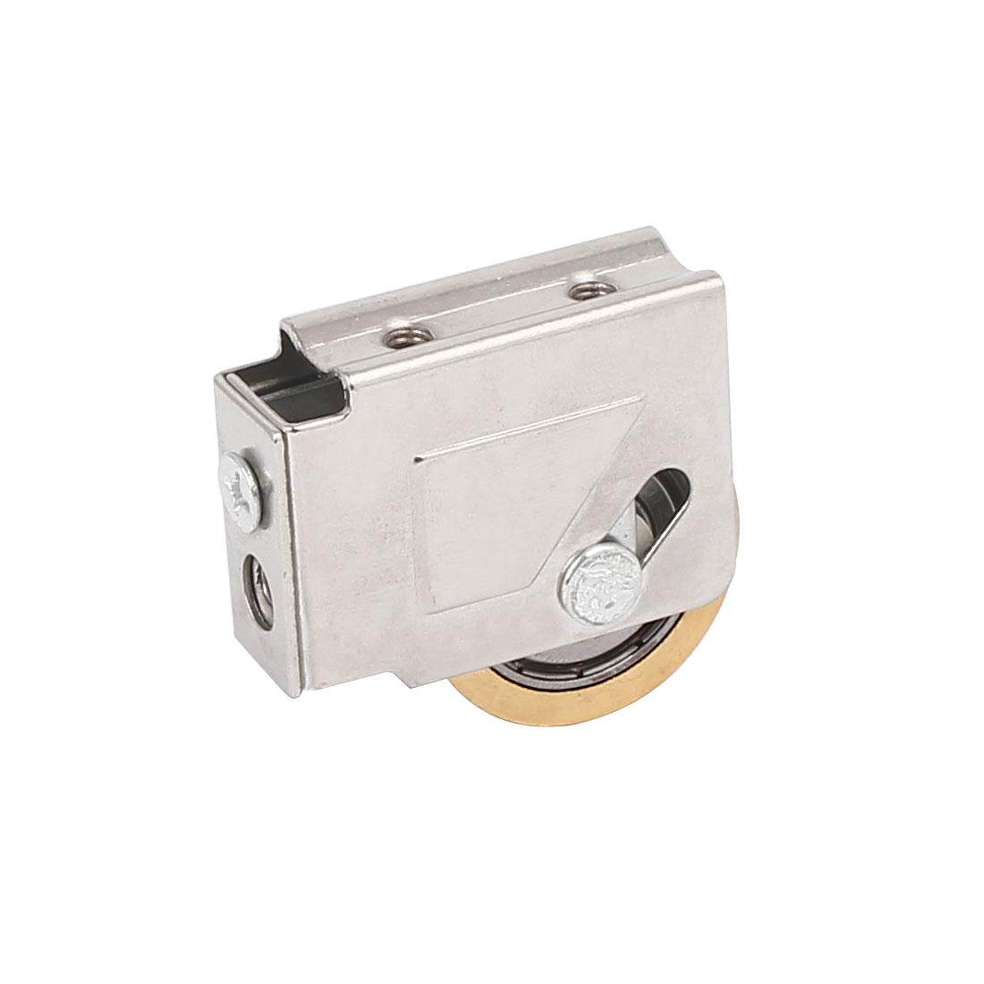 35mm x 8mm Single Brass Roller Sliding Door Window Pulley Wheel
