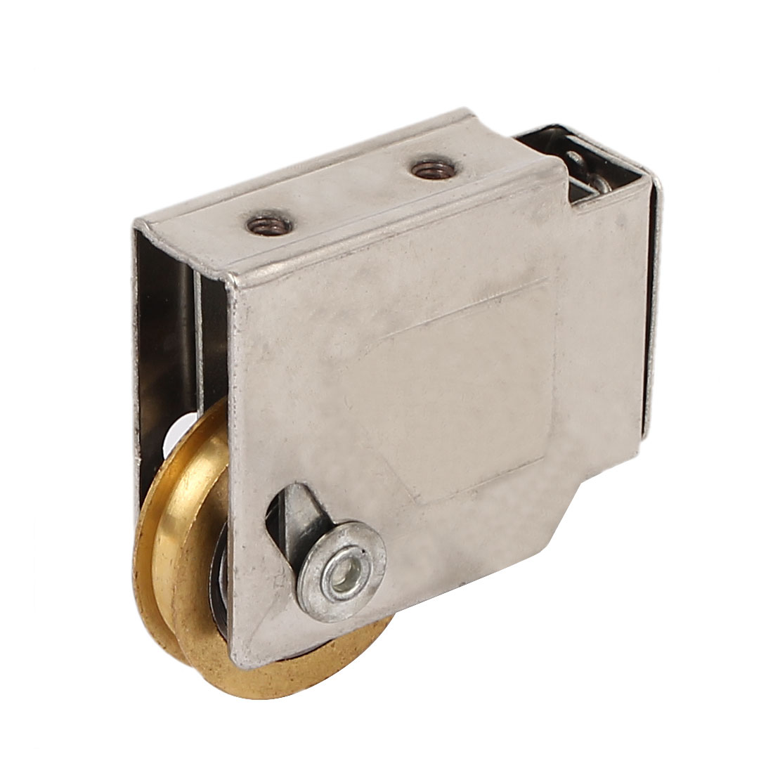 37mm x 8mm Single Brass Roller Sliding Door Window Pulley Wheel