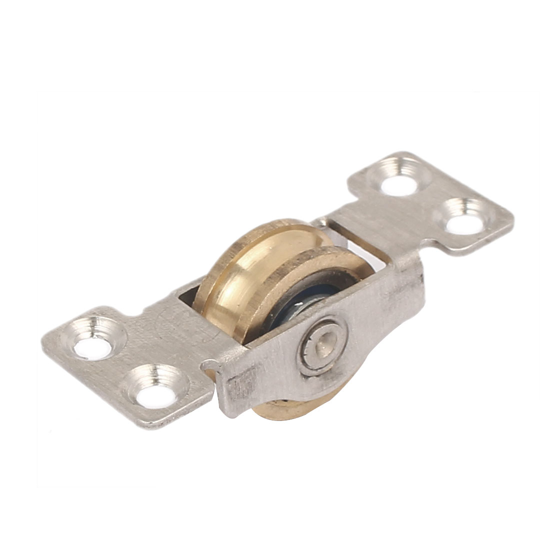 20mm x 9mm Single Brass Roller Sliding Door Window Pulley Wheel