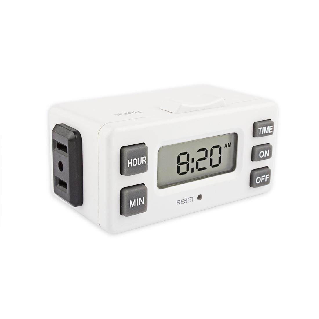 TM224 1-Outlet Daily Programme Digital Bar Timer Indoor TimerMax Digislim Polarized