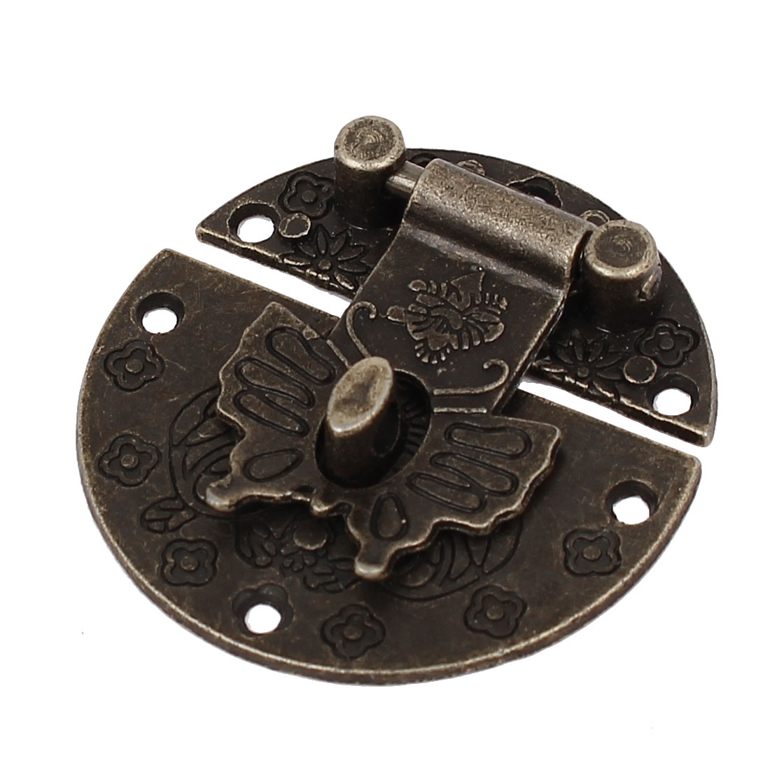 Box Suitcase Antique Style Butterfly Design Toggle Latch Catch Hasp Lock