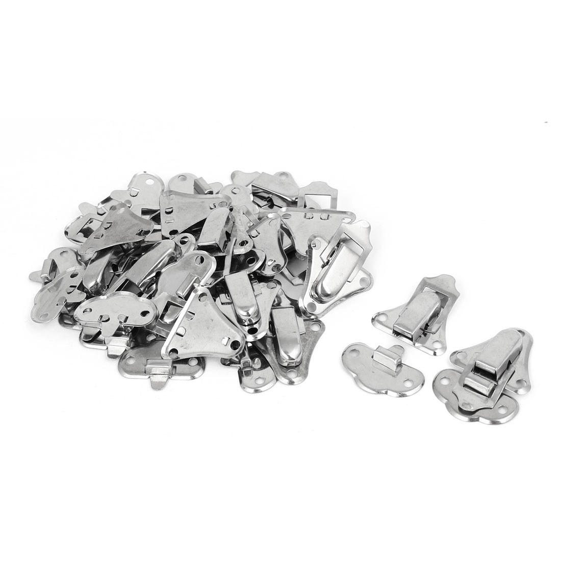 Box Suitcase Stainless Steel Toggle Latch Catch Hasp Lock Silver Tone 20pcs