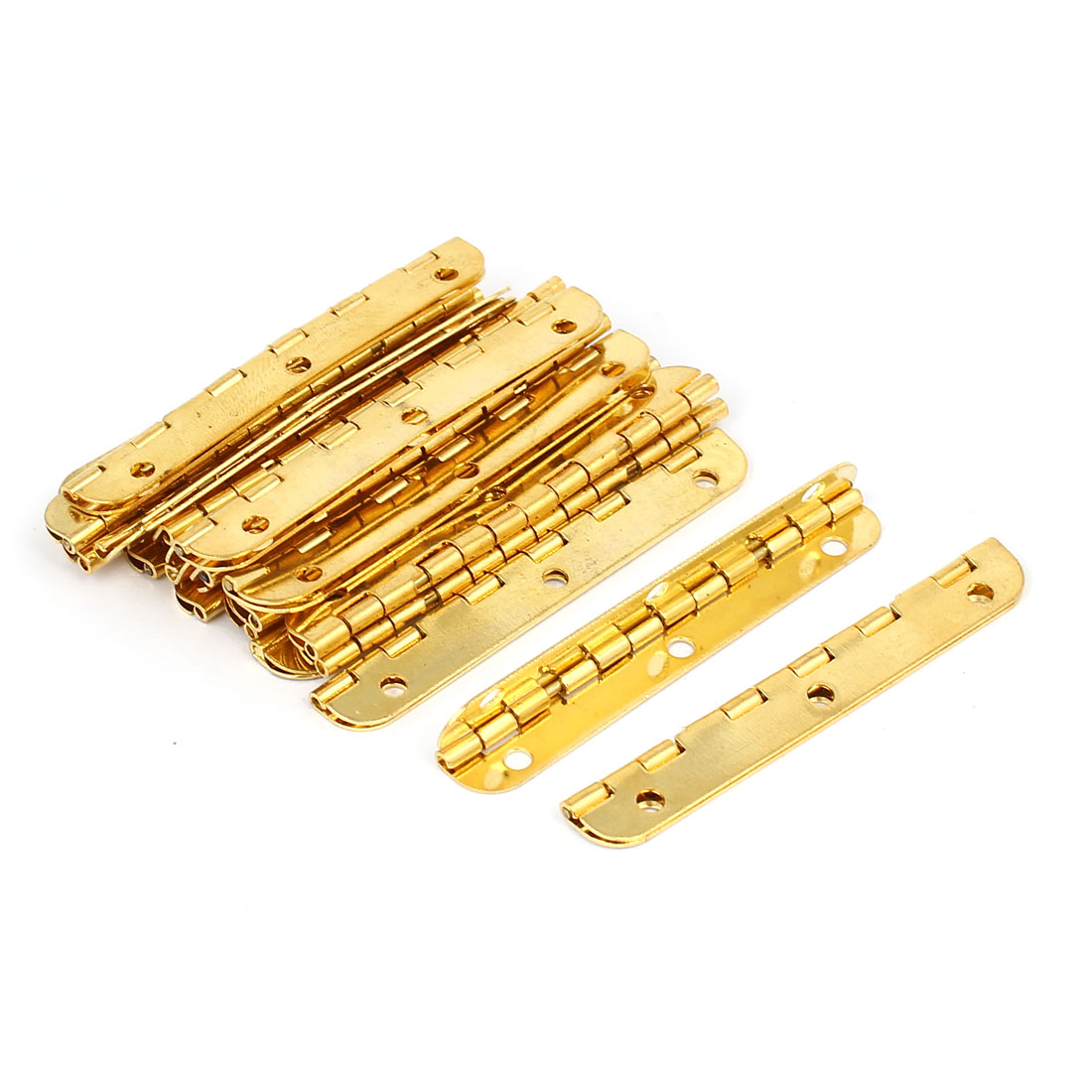65mmx13mm Rectangle Shape Folding Hinge 20pcs for Cabinet Door Jewelry Box