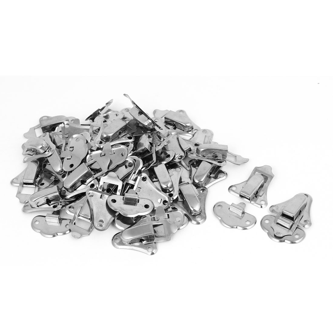 Box Suitcase Stainless Steel Toggle Latch Catch Hasp Lock Silver Tone 30pcs