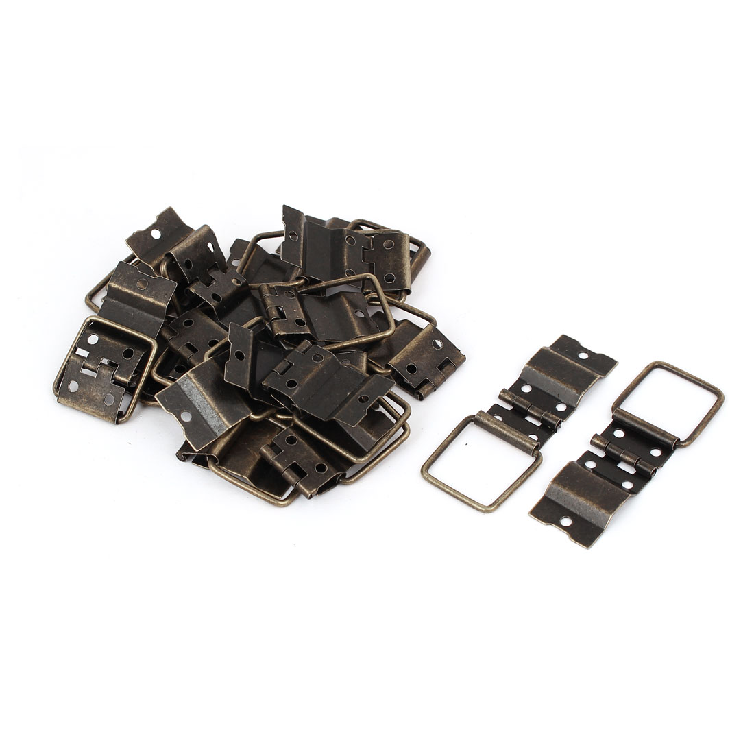 Box Case Retro Style Positioning Support Hinges Bronze Tone 37.5mmx16.5mm 20pcs
