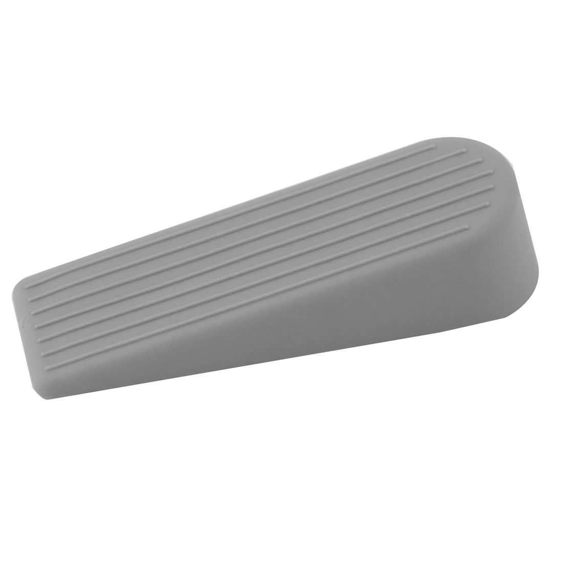 Home Rubber Non-slip Security Wedge Jam Door Decor Stopper Doorstops Gray