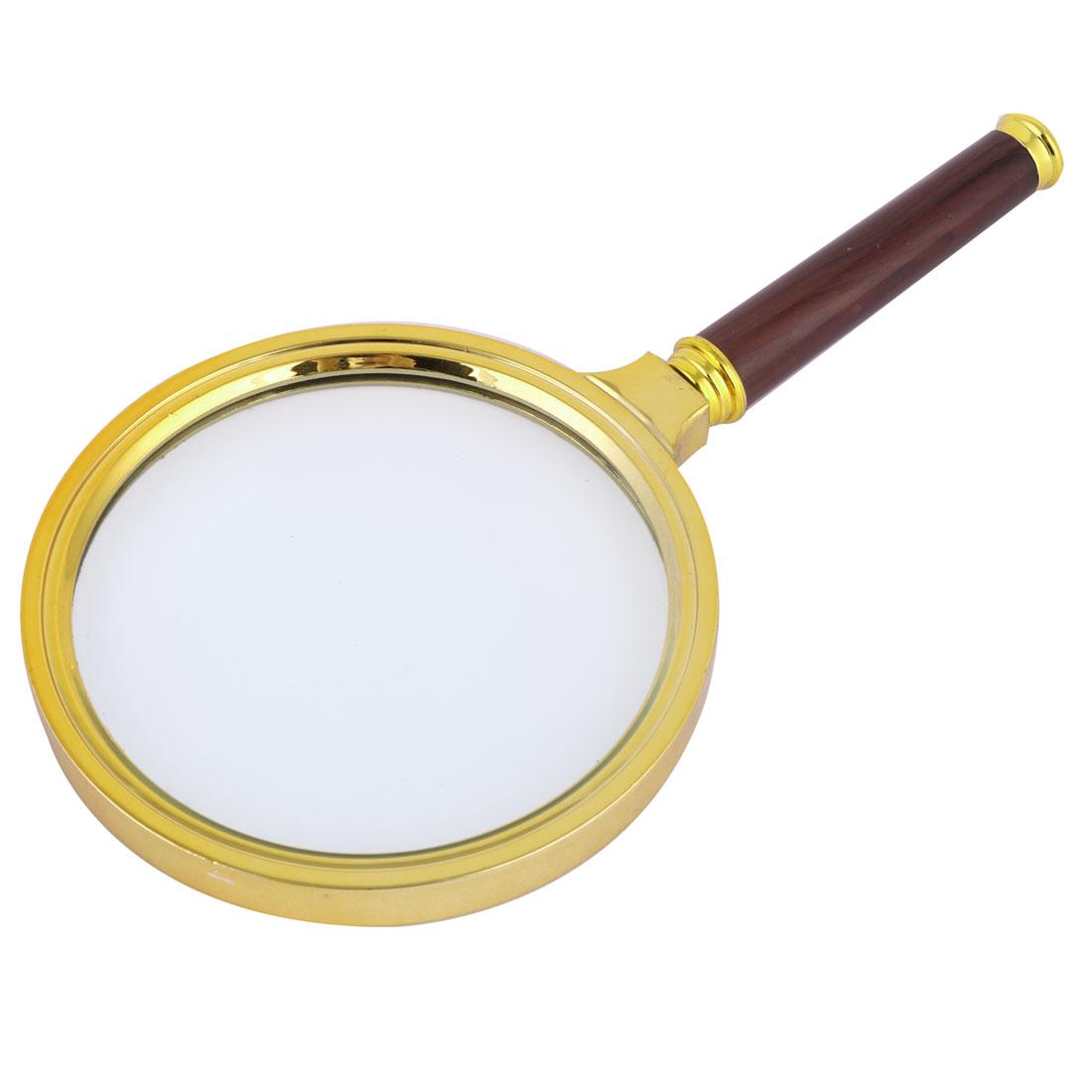 Plastic Frame Detachable Handle 80mm Dia 5X Optical Lens Magnifier Tricolor