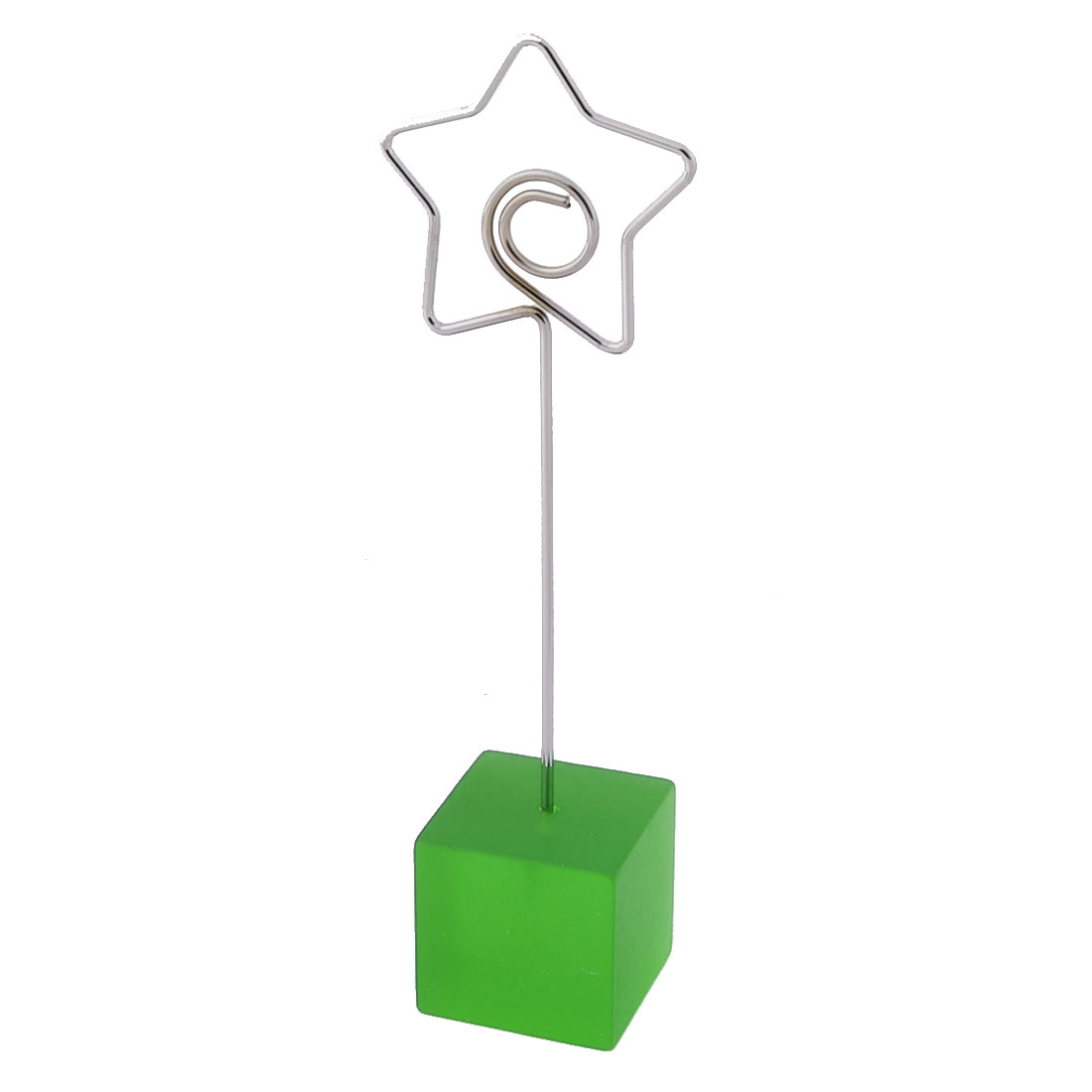 Office Resin Star Shaped Tabletop Decoration Note Photo Card Memo Clip Green