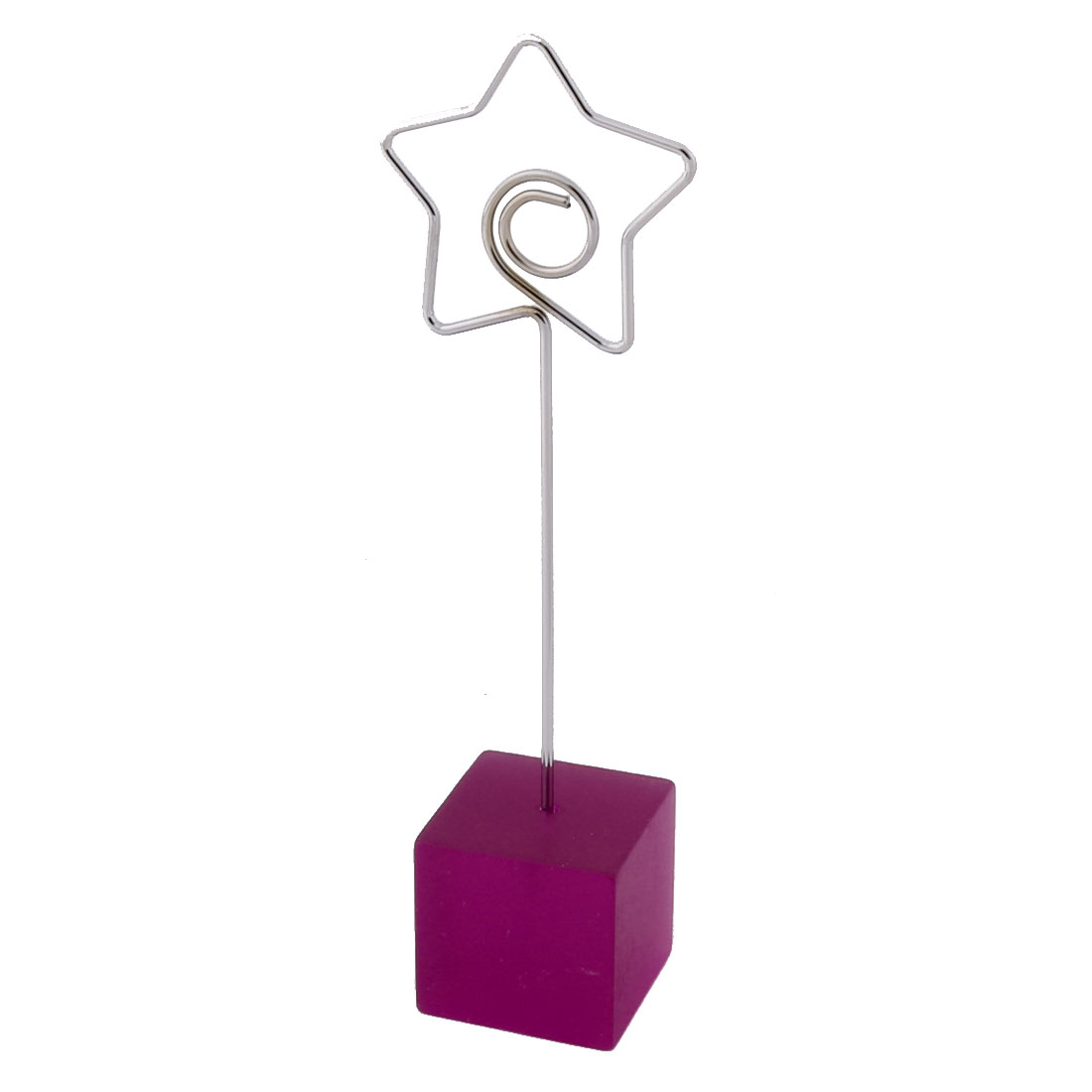 Household Office Resin Star Shaped Tabletop Decoration Note Photo Card Memo Clip Fuchsia