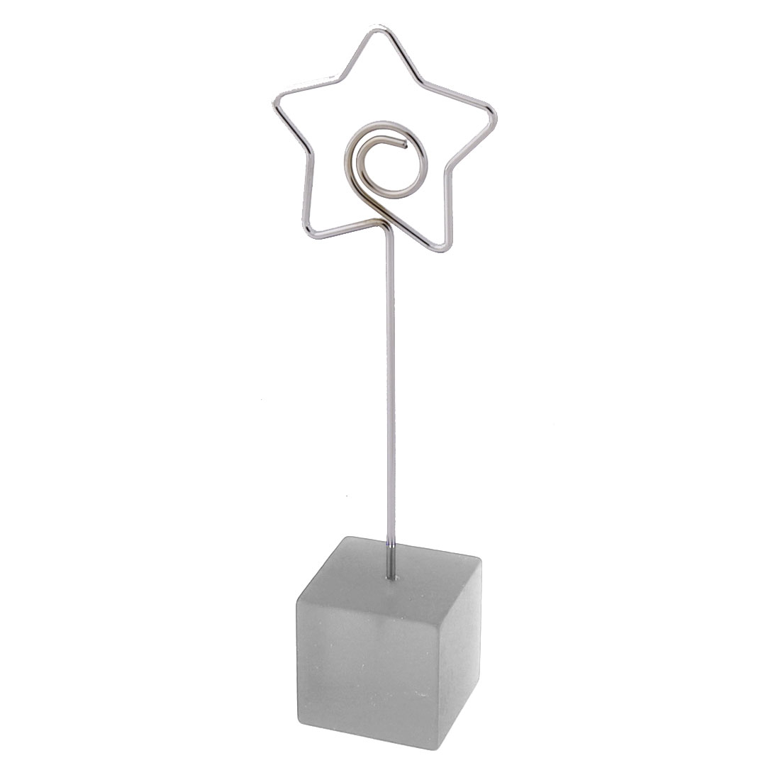Home Office Resin Star Shaped Table Decor Note Photo Card Memo Clip Silver Tone