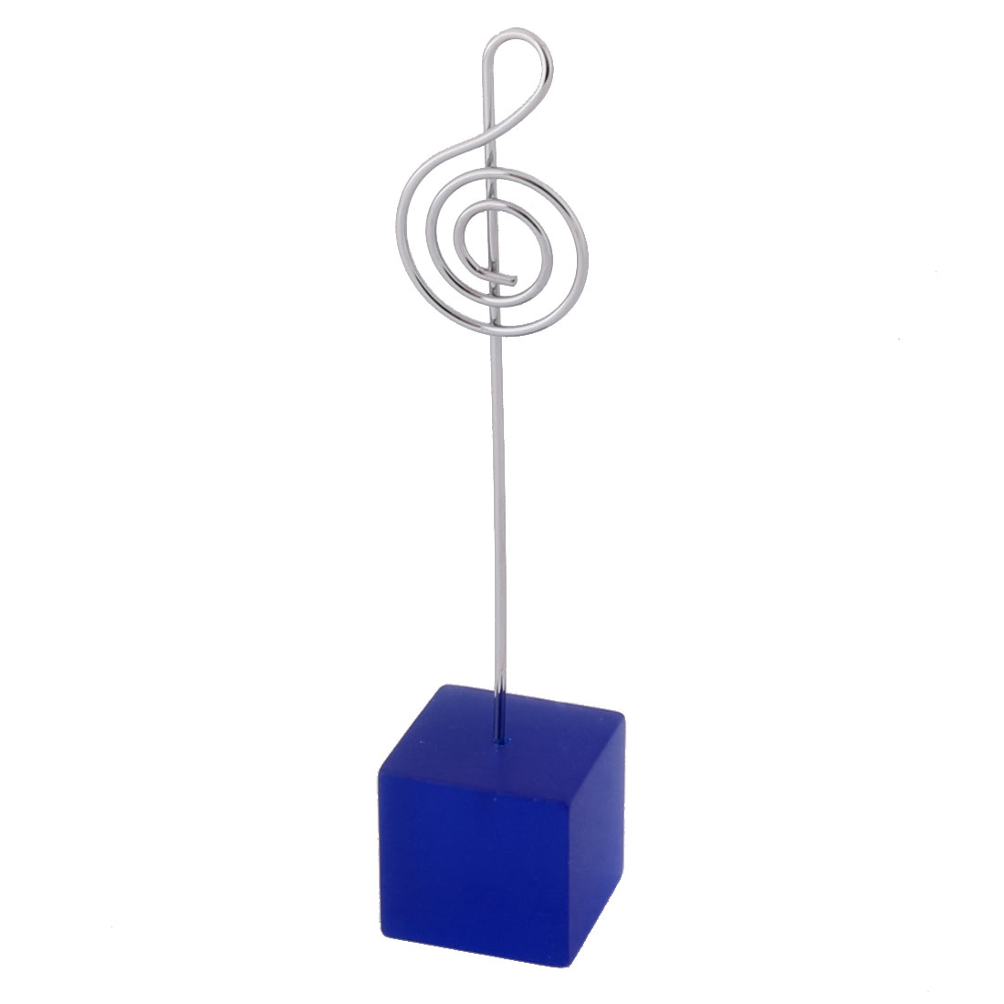 Household Office Resin Musical Note Shaped Tabletop Decor Photo Memo Clip Blue