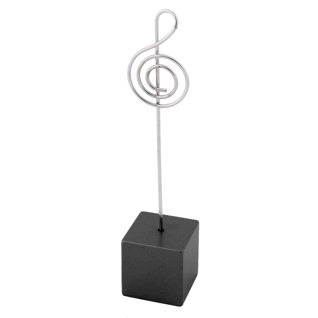 Household Office Resin Musical Note Shaped Tabletop Decoration Photo Memo Clip Black