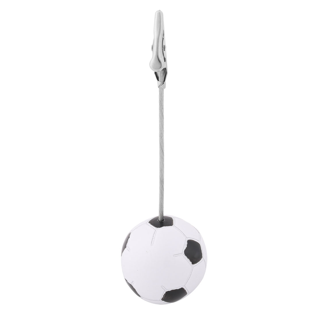 Office Football Shaped Base Alligator Design Clamp Note Photos Paper Memo Clip