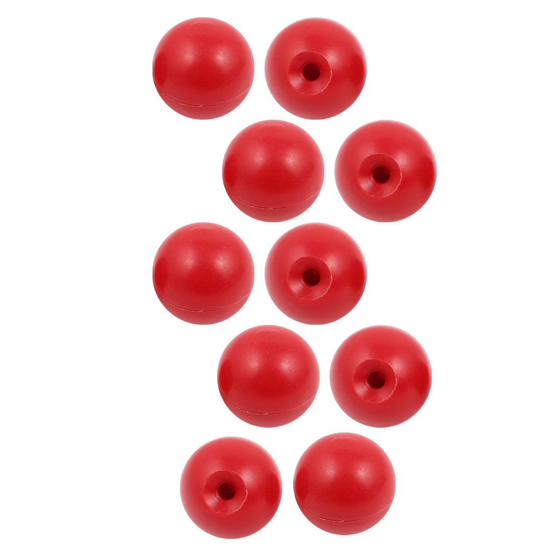 10 Pcs M6 x 30mm Plastic Ball Machine Tool Accessories Console Handle Red