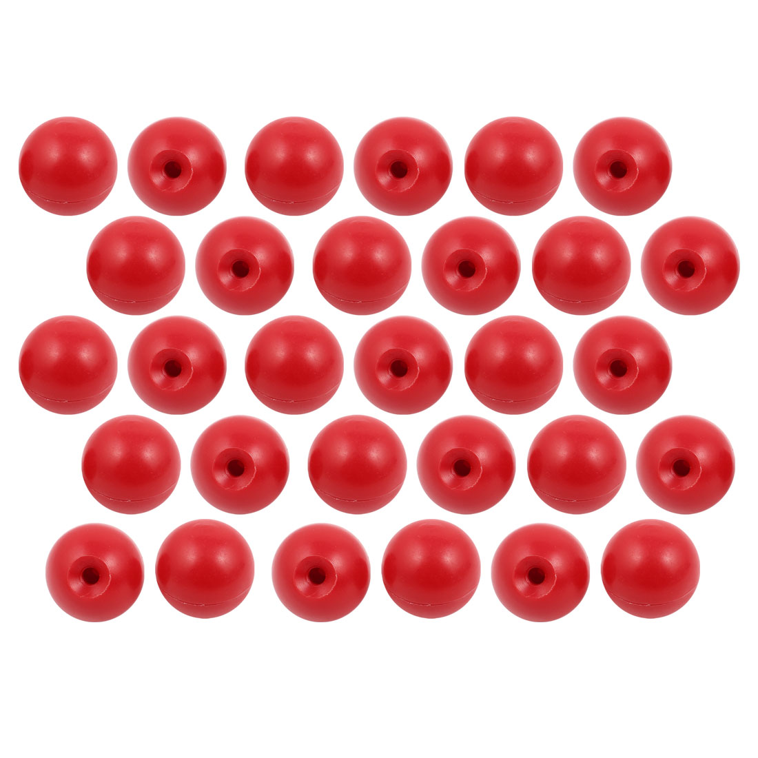 30 Pcs M6 x 30mm Plastic Ball Machine Tool Accessories Console Handle Red